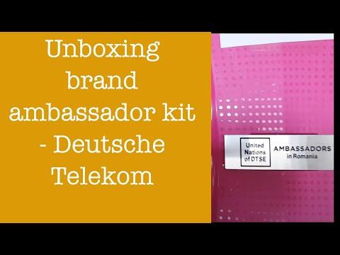 Unboxing brand ambassador kit - Deutsche Telekom Services Europe