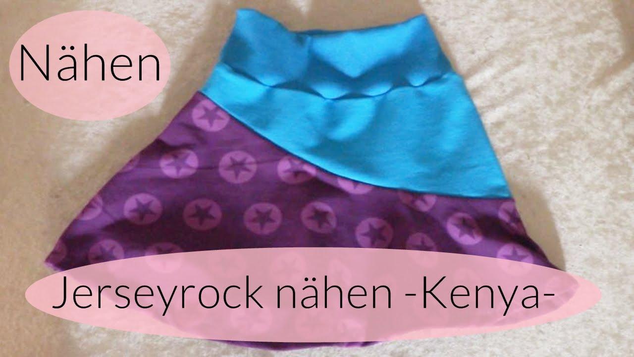 Jerseyrock nähen I Rock KENYA nähen I Nähen für Anfänger I Deutsch ...