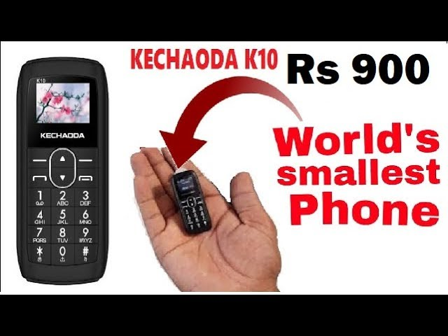 Worlds Smallest Phone Unboxing and review kechoda k-10/ small mobile /hindi