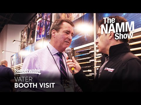 Vater Booth Visit at Winter NAMM 2020