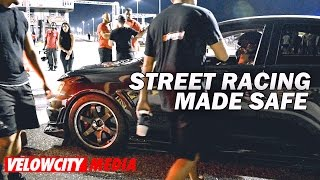 street racing made safe event 1291hp evo vs mustang evo x vs trans am ae86 f22 vs gtr   velowcity