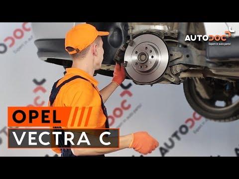 Hoe een achter remschijven vervangen op een OPEL VECTRA C