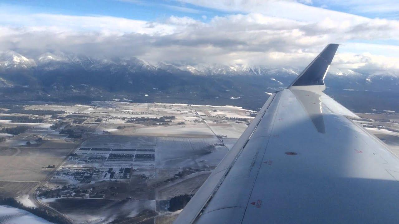 Landing at Kalispel Montana Glacier Park International Airport - FCA