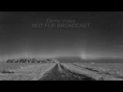Benton County, MN Aurora IR & Visible Light Timelapse - 6/24/2016