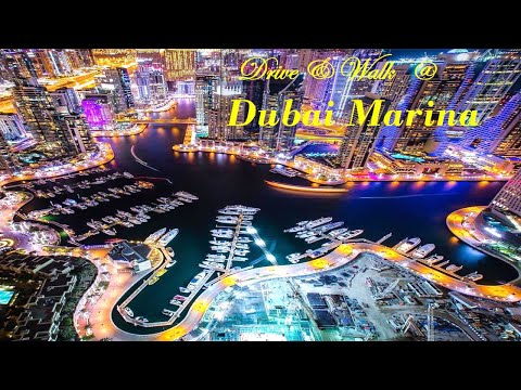 Dubai Marina Night Video /Dubai Marina Walk/Ride and walk on Dubai Marina
