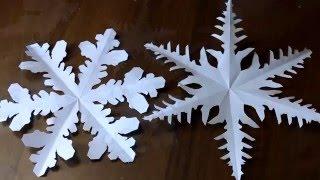 Настоящие снежинки из бумаги  Новогодние игрушки  Видео These snowflakes out of paper  Christmas toy(Вырезаем снежинки из бумаги по форме, как настоящие, для украшения и создания праздника и новогоднего настр..., 2015-11-24T18:54:34.000Z)