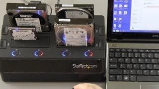 StarTech 4 Bay eSATA USB 3.0 to SATA Hard Drive Docking Station and 3 TB 7200RPM HDD Unboxing