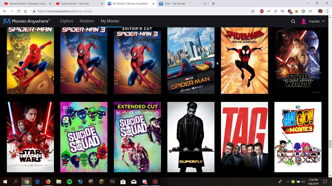 My Movies Anywhere and Vudu 250+ Digital Movies Collection (April 2019  Update)