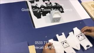 Kağıt lazer kesim Makinası // karton kutu// kağıt davetiye// Galvo lazer