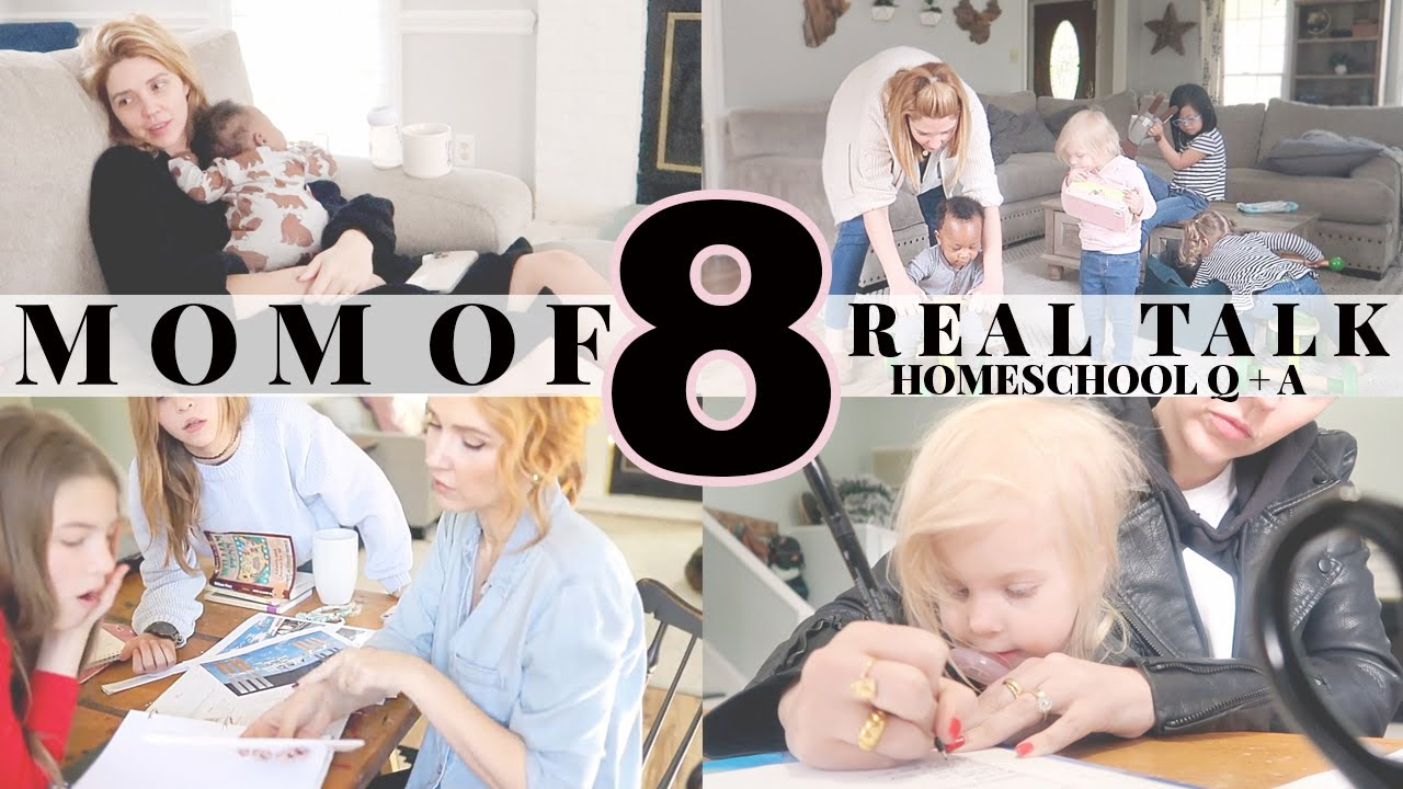 Mom of 8 Homeschool REAL TALK \\ Subjects you suck at, Burnout,Multiple Grade Levels,Working Parents
