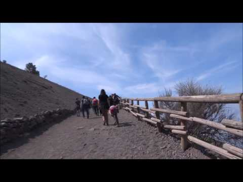 Italy, Naples: Walking up the amazing Mount Vesuvius POV