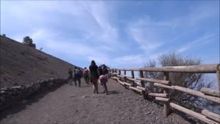 Italy, Naples: Walking up the amazing Mount Vesuvius POV