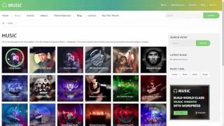 Music - Responsive WordPress Theme