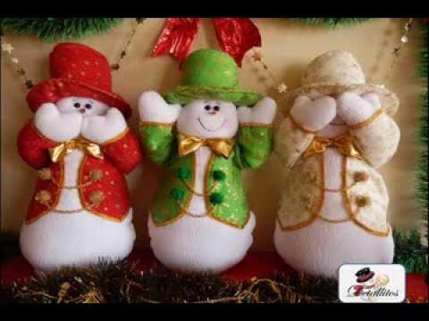 Mu ecos navide os nieves sabios youtube - Munecos de navidad ...