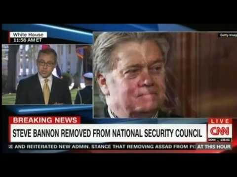 Steve Bannon removed from the Principals Committee of the National Security Council, Power Struggle?
