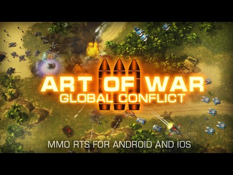 Art Of War 3: Global Conflict - big PvP battle footage (Android, iOS RTS game)