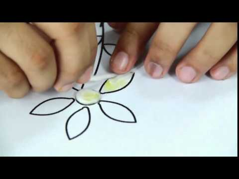 How To Make Cotton Flower Art And Craft Youtube