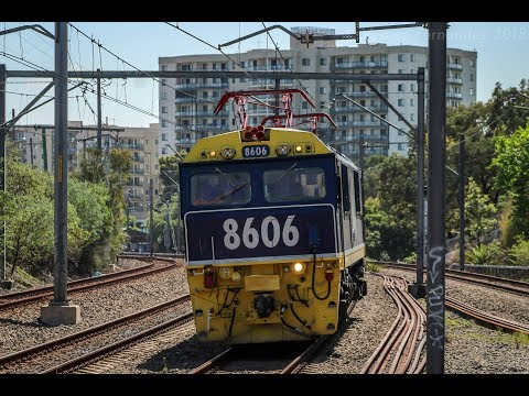 A return of a NSW SRA Electric Locomotive - 8606