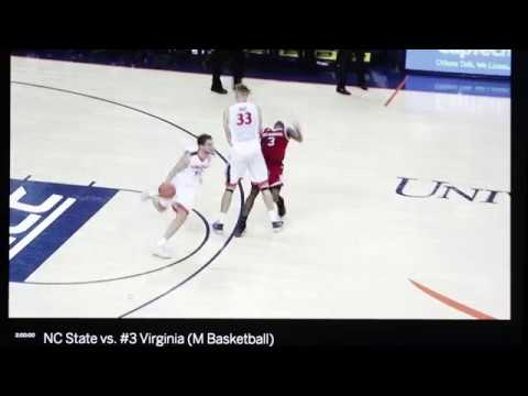 UVA Basketball -Jack Salt Backcourt Screen vs NC State