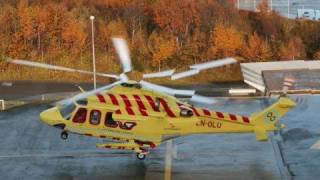 AW139 Approaching and Landing at the hospital in Tromso