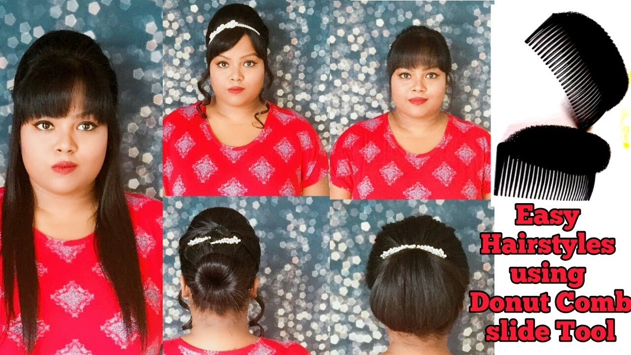 3 Easy Bunpuff Hairstyles Using Pad Puff Princess Hair Styling Tool