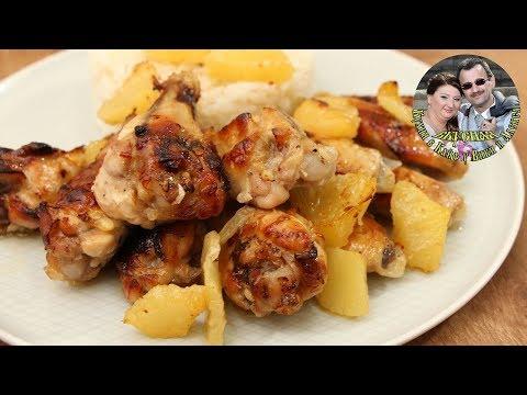 Как приготовить куриные крылышки в духовке с ананасами в соусе. Невероятно быстро и вкусно.