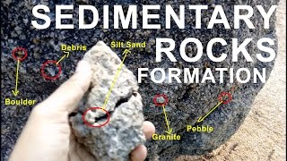 Sedimentary rocks formation by breaking down | Learning Geography through observation