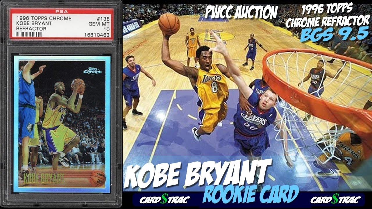 1996 Kobe Bryant Rookie Card Topps Chrome Refractor 138 For Sale Graded Bgs 95