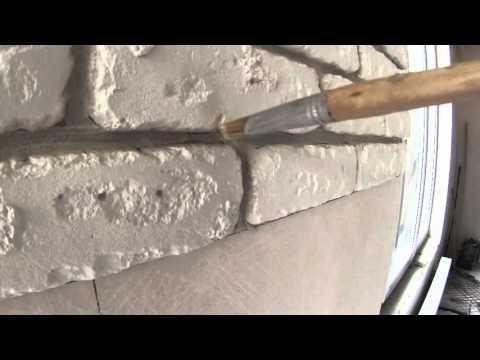 Формирование шва искусственного декоративного камня