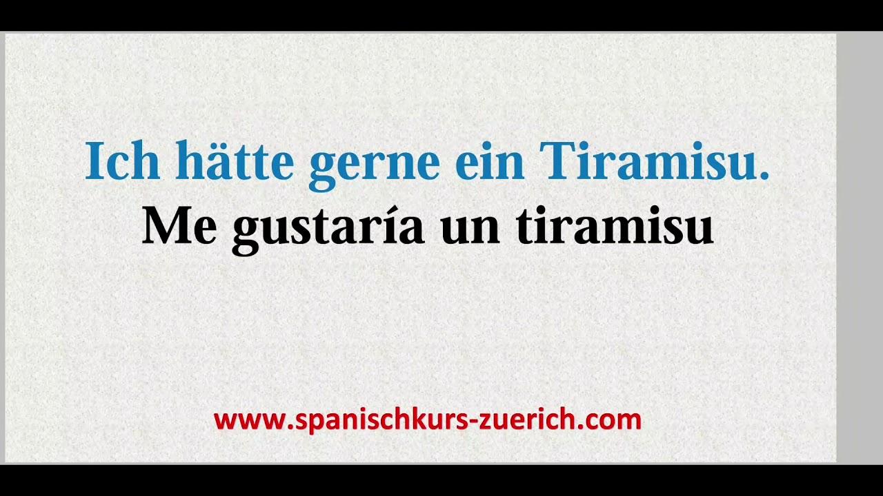 Ich Hätte Gerne Spanisch