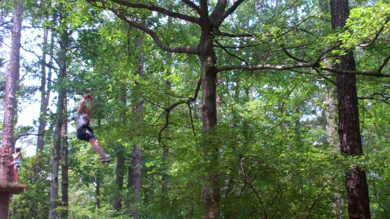 Tree top adventure callaway gardens youtube for Callaway gardens treetop adventure