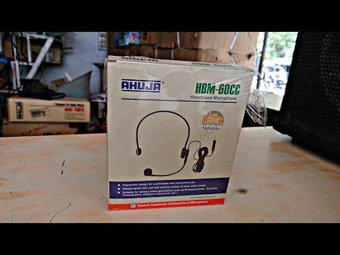 AHUJA HBM-60CC HEADBAND MICROPHONE SERIES UNBOXING & REVIEW