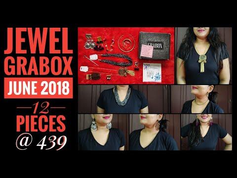 Jewel Grabox June 2018 | Best ever?! Egyptian jewelry? 12 pieces @ 439!