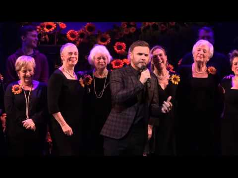 The Girls Musical cast with Gary Barlow at The Lowry perform 'Dare'