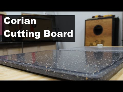 Creating a Corian Cutting Board with a Juice Groove