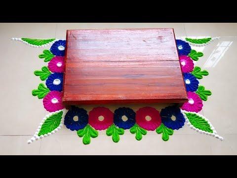 margashirsha laxmi puja | margashirsha laxmi vrat | chaurang rangoli design