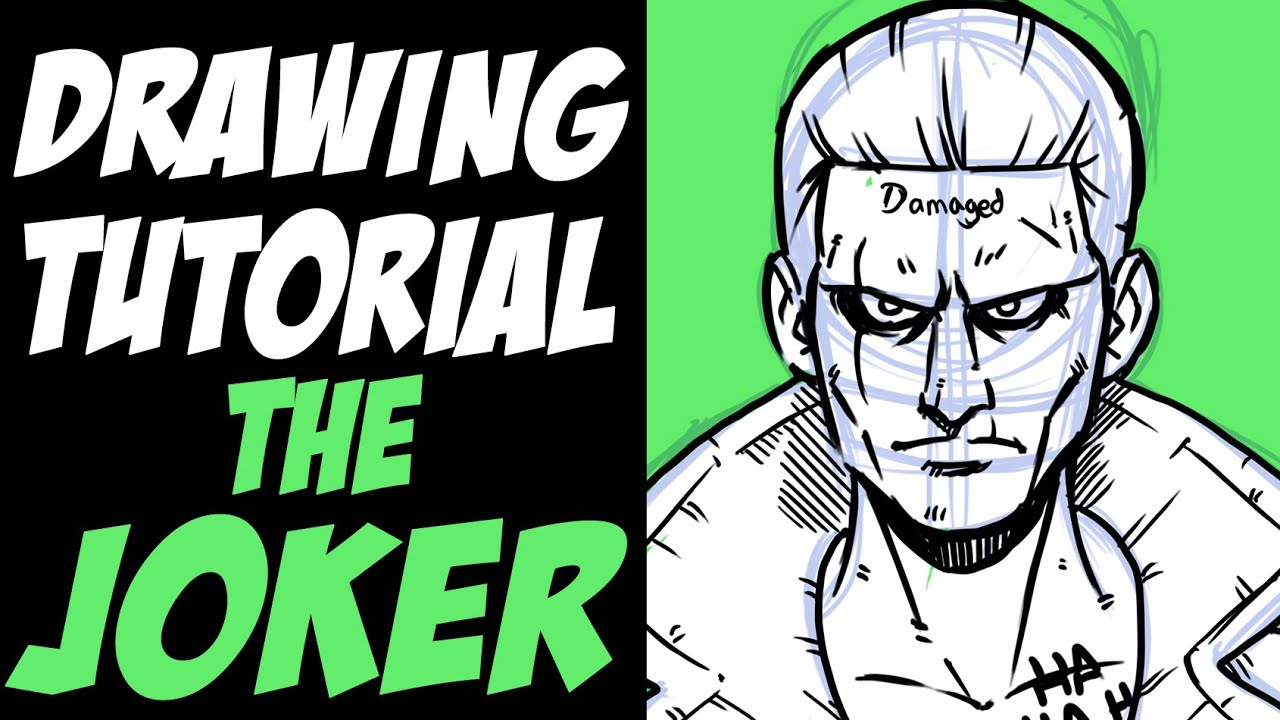 How To Draw The Joker From Suicide Squad, Step By Step
