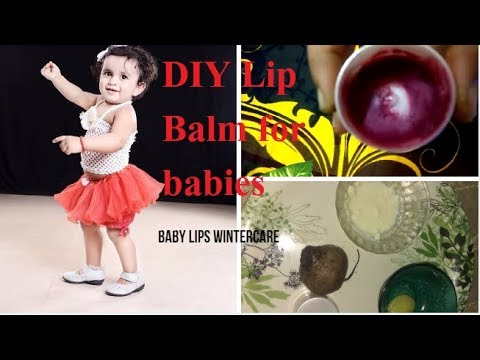 Homemade Lip Balm For Babies|| Kids Winter Lips Care||Get Baby Soft And Pink Lips Naturally At Home