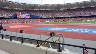 Usain Bolt & Racers Track Club win men 4x100m relay London Diamond League 2013 (Anniversary Games)