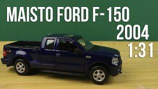 Розпакування Maisto 1:31 2004 Ford F-150 FX4 (31248 met. blue)