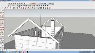 Domek letniskowy od podstaw - komin systemowy oraz konstrukcja dachu