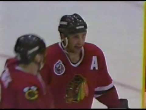 Brent Sutter Scores 1993 Chicago Blackhawks vs Tampa Bay Lightning