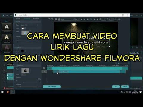 Cara Membuat Video Lirik Lagu Dengan Wondershare Filmora