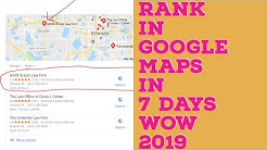 Ranking in Google Maps Fast - Ranking in Google Maps Explained (2018)
