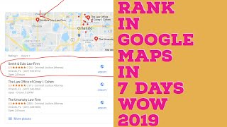 Ranking in Google Maps Fast  Ranking in Google Maps Explained (2019)
