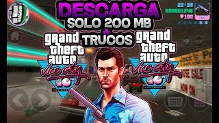 Descarga e Instala Grand Theft Auto Vice City Lite Con Solo 200 MB + Trucos Para Android - APK + OBB