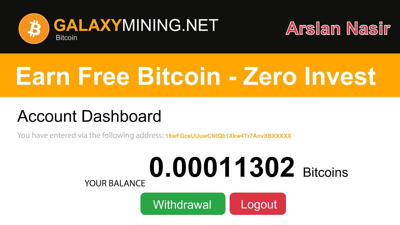 Galaxy Mining | Earn Free Bitcoin - Zero Invest 0.002 BTC Live ...