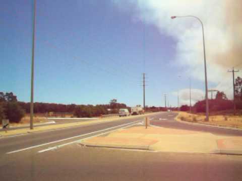 Bush fire, view from joondalup Western Australia
