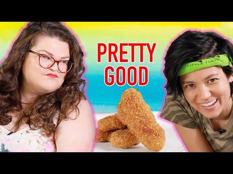 Kristin And Jen Try Every Trader Joe's Vegan Food | Kitchen & Jorn