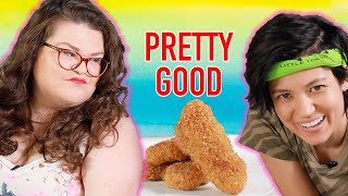 Kristin And Jen Try Every Trader Joe's Vegan Food | Kitchen & Jorn